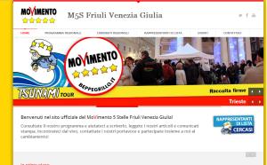 La schermata iniziale del sito www.fvg5stelle.it
